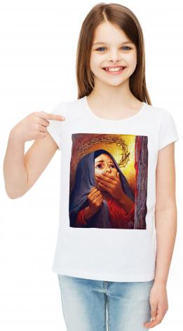 Youth T-shirt - Mary at the Cross by L. Glanzman