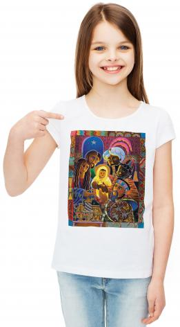 Youth T-shirt - Light of the World Nativity by M. McGrath