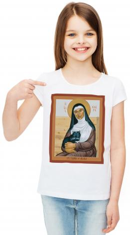 Youth T-shirt - St. Clare of Assisi by R. Lentz