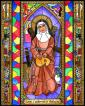 Wood Plaque - St. Catherine of Bologna by B. Nippert