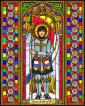 Wood Plaque - St. Joan of Arc by B. Nippert