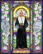 Wood Plaque - St. Catherine Labouré by B. Nippert