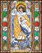 Wood Plaque - Our Lady Star of the Sea by B. Nippert