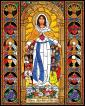 Wood Plaque - Mary, Mother of Mercy by B. Nippert