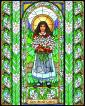 Wood Plaque - St. Maria Goretti by B. Nippert